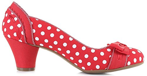 Geschlossen Ruby Pumps Schuhe Damen Polka Schleife Shoo Dots Red Hayley PWP8qU1Rw