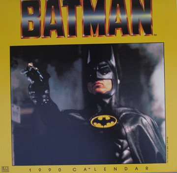 Batman (Movie) 1990 Calendar Old Store Stock Re-Shrinked Wrapped After Being Photographed