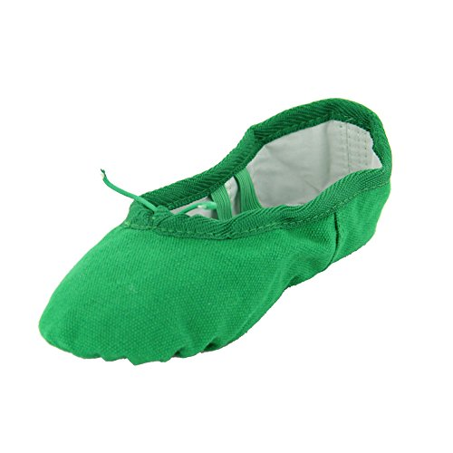 Canvas Kid Ballet Dancing Yoga Performance Flats,Green,Little Kid,13M US (Tinker Bell Shoes)