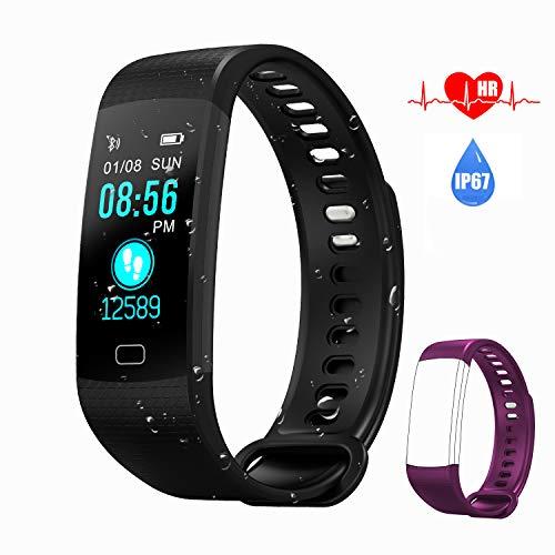 Aipker Fitness Tracker, IP67 Waterproof Activity Tracker Wat...