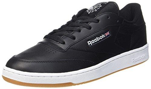 Reebok Herren Club C 85 Gymnastikschuhe Schwarz (Int-black/white-gum)