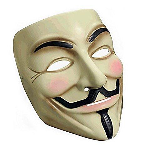 Jason V Costume (HLLWN Expresss, Guy Fawkes V For Vendetta, Anonymous Latex Mask 2014 HLWMSK52)