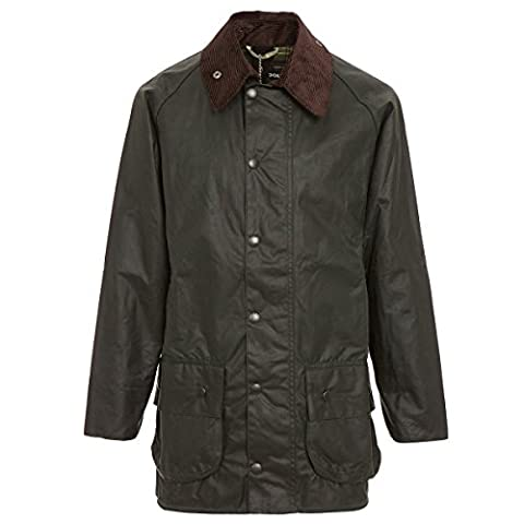 Barbour Men's Beaufort Wax Jacket (34, Sage) - Beaufort Waxed Cotton Jacket