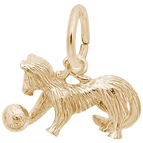 Rembrandt Charms Cat Charm, Gold Plated Silver