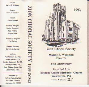 King Him Crown (Zion Choral Society - 1993)