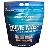 Cheap BodyTech Prime Mass High Protein Weight Gainer with 55 Grams of Protein per Serving to Support Muscle Growth Performance Blend of Creatine, Glutamine BCAA's Rich Chocolate (12 Pound)
