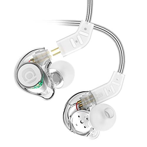 Adorer IM8 Universal-Fit In Ear Monitors Headphone with Microphone and Remote, Noise-Isolating Removable Cable Earphones with Musician's, Drummer for iOS, Android, Smartphones, MP3 Player