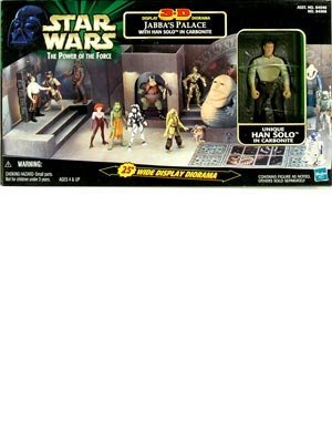 Star Wars: Power of The Force > Jabbas Palace 3-D Display Diorama with Han Solo & Carbonite Block ()