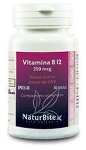 Vitamina B12 60 comprimidos de 250 mcg de Naturbite