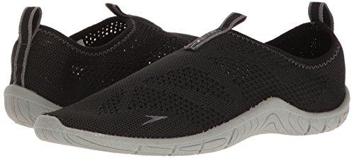 Speedo Women's Surf Knit Athletic Water Shoe, Black/Neutral Grey, 7 C/D US by Speedo (Image #6)