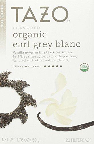 Tazo Organic Earl Grey Blanc Tea, 20 Bags, 1.76 Oz Blanc Tea