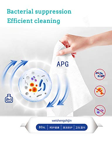 Disinfectant Wipes for Hands, 75% Alcohol Soft Wet Wipes for Family, Cleaning Supplies, 2 Packs, 120 Wipes