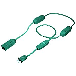 9 Foot Stanley 9-Outlet Green Extension Cord with On/Off Toggle Switch