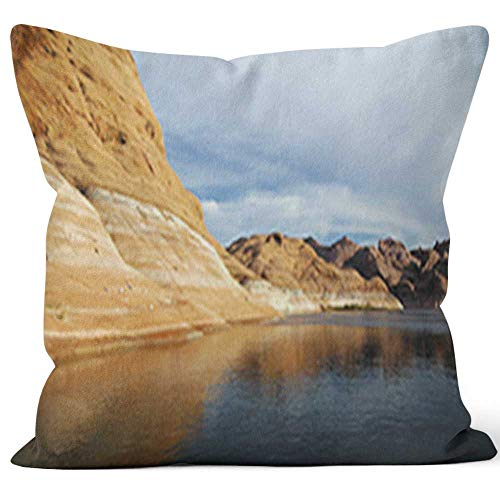 Nine City Lake Powell Throw Pillow Cover,HD Printing for Sofa Couch Car Bedroom Living Room D¨¦cor ()