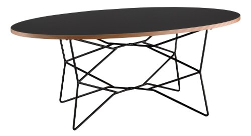 Adesso WK2273-01 Network Coffee Table - Natural Wood Oval Table