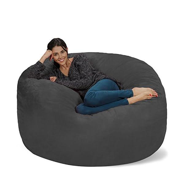 Chill Sack Bean Bag Chair: Giant 5′ Memory Foam Furniture Bean Bag – Big Sofa with Soft Micro Fiber Cover