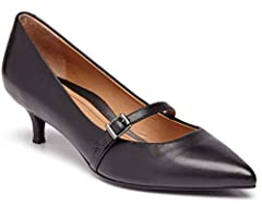 Slip into this polished and professional Mary Jane for optimal all-day comfort. The perfect heel height and sleek adjustable strap make this an all-round winner.