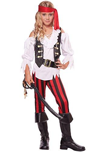 Fantasy Pirate Costumes (California Costumes Posh Pirate Costume, One Color, 10-12)