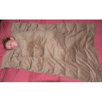 "Weighted Blanket XLarge Tan 25 lbs 57"" x 80"""