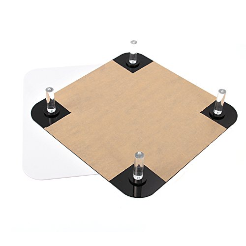 Foto4easy 12x12 Acrylic Reflective Display Table Background Board Photography Shooting(Black and White) by Foto4easy