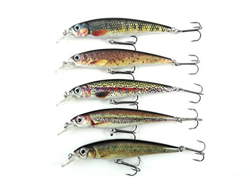 Bass Fishing Lures Set Jerkbait/Crankbait Sardine Swimbait Kit (5 Pack)