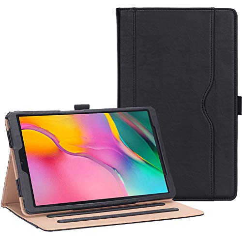 ProCase Galaxy Tab A 10.1 Case 2019 Model T510 T515 - Stand Folio Case Cover for Galaxy Tab A 10.1 Inch 2019 Tablet SM-T510 SM-T515 -Black (Samsung Tablet Covers 10)