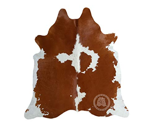 Brown And White Cowhide Rug 6ft X 8 Ft 180cm X 240 Cm