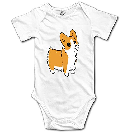 Cute Corgi Baby Toddler Girl Boy Sleeveless Romper Bodysuit Jumpsuit Outfit Clothes -