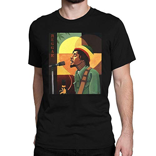GOOD COME FROM Men's Peter Tosh Art Short Sleeve T Shirt (Peter Tosh T Shirt)