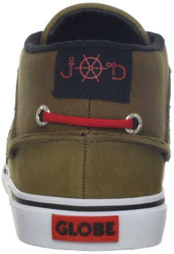 Globe Skateboard Shoes The Bender Golden Brown/Red