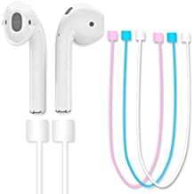 AirPods Strap,(Blue)Fluorescent Light Glow in The Dark iPhone 7 / 7 Plus Air Pods Sports Silicone Strap Wire Rope for Apple Airpods