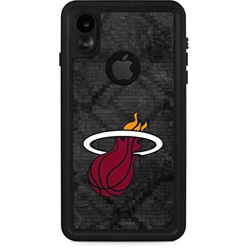Skinit Miami Heat Dark Rust iPhone XR Waterproof Case - Officially Licensed NBA Phone Case Waterproof - Snow, Dust, Waterproof iPhone XR Cover