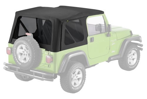 Pavement Ends by Bestop 51148-35 Black Diamond Replay Replacement Soft Top Tinted Windows; No door skins included for 1997-2006 Jeep Wrangler - Bestop Replacement Windows