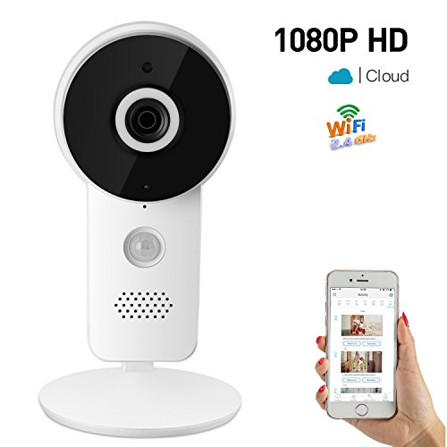 1080P Wirless Home Security Camera Network WiFi Surveillance Webcam Video Recorder Baby Monitor for Pet Nanny Cloud Cam 2 Way Audio Speaker Motion Detection Night Vision Indoor Remote Control by TenT