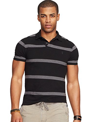 Polo Ralph Lauren Men's Classic-fit Striped Mesh Polo Shirt, Xs, Grey Stripe