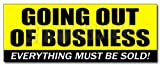48'' GOING OUT OF BUSINESS DECAL sticker closeout save big huge must bankrupt