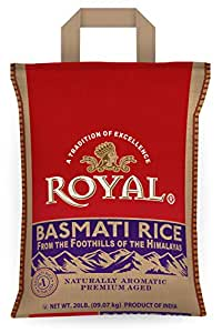 Amazon Com Royal White Basmati Rice 20 Pound Dried Basmati Rice