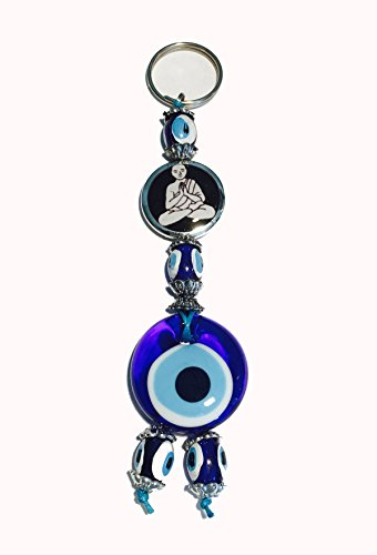 Keychain With Glass Evil Eye Good Luck Charm - - Simple Real Gift