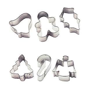Wilton Holiday 6-Piece Mini Metal Cutter Set