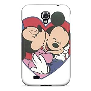 Protector Hard Phone Covers For Samsung Galaxy S4 (RiZ14302ymOF) Unique Design High-definition Mickey And Minnie Pictures