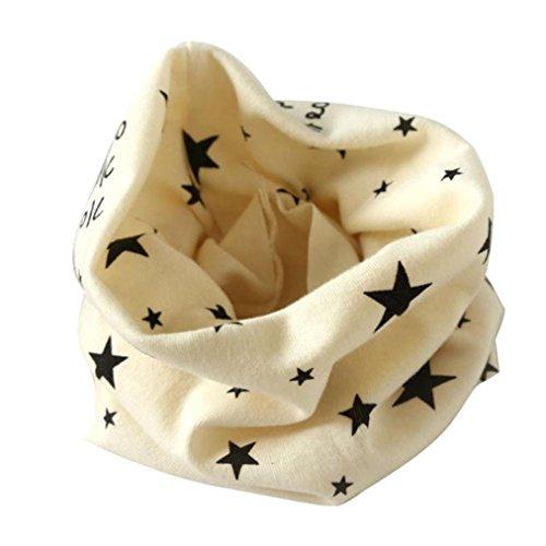 Babybekleidung Schals Longra Herbst Winter Jungen Mädchen Baumwolle Kragen Schal O-Ring Ansatz Verpackungs Halstücher Schals(40*37cm/15.7*14.5, 2 bis 10 Jahre alt.) (Beige)