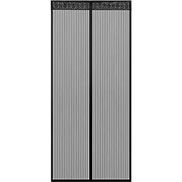 Plein Cadre Noir 28x79 Pouces pour Chambre d \\ Enfants YSA Porte moustiquaire magn/étique Rayures Super silencieuses 70x200cm emp/êche Les Insectes de p/én/étrer dans Les moustiques