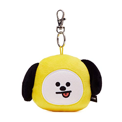 BT21 Official Merchandise by Line Friends - CHIMMY Character Plush Doll Face Key Chain Ring with Mirror Handbag ()