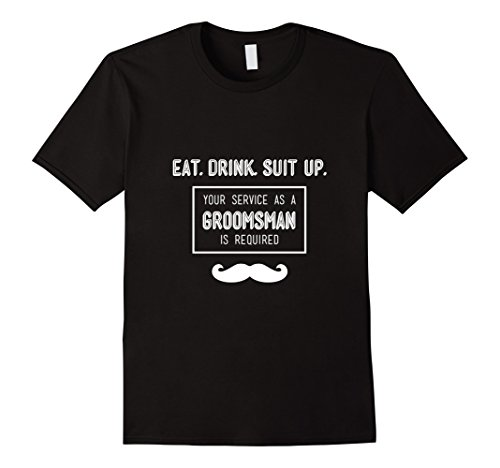 Mens Groomsmen/Best Man Gift for Best Friend/Brother – Groomsman Large Black