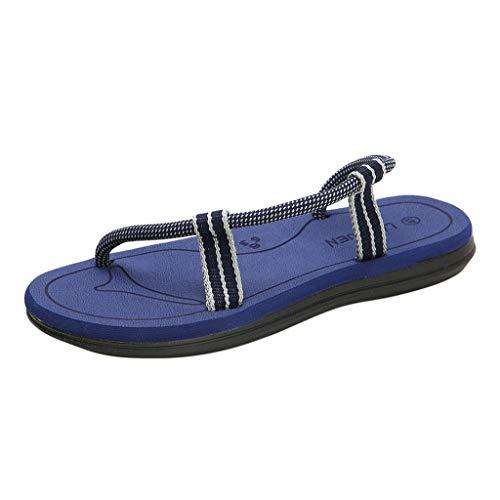 OrchidAmor Men's Fashion Summer Couples Casual Flats Womens Antiskid Sandals Beach Shoes Blue