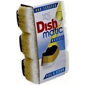 Dish Matic non scratch Refills x3
