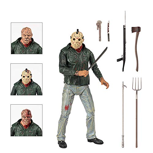 BODAN NECA Action Figure Friday The 13th Part 3 Jason Voorhees Action Figure Statues Model Doll Horror Collection Gifts - PVC 7