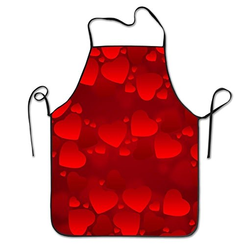 Valentine's Day Love Chef Aprons Personalized Tailgate Grilling Pinafore Intended For Adult Materia