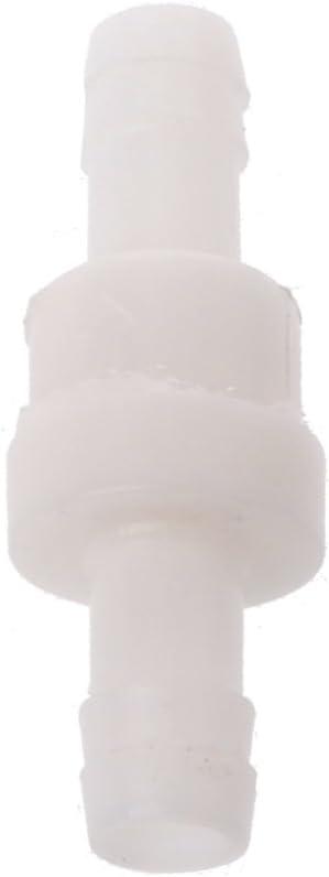 Tapón antirretorno con sentido único de plástico para válvula de fluidos en línea de agua, antivuelco líquido/gas combustible (10 mm)