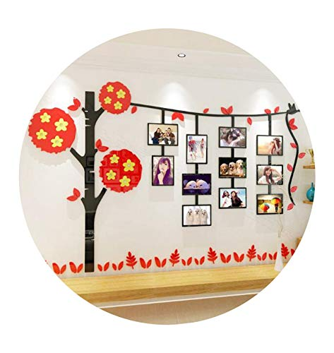 - Cartoons Photos Trees Acrylic Three Dimensional Wall Stickers Creative Photographs Decorative Stickers,Green,Small